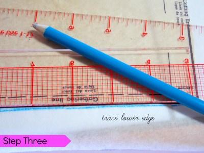step 3 trace edges sleeve