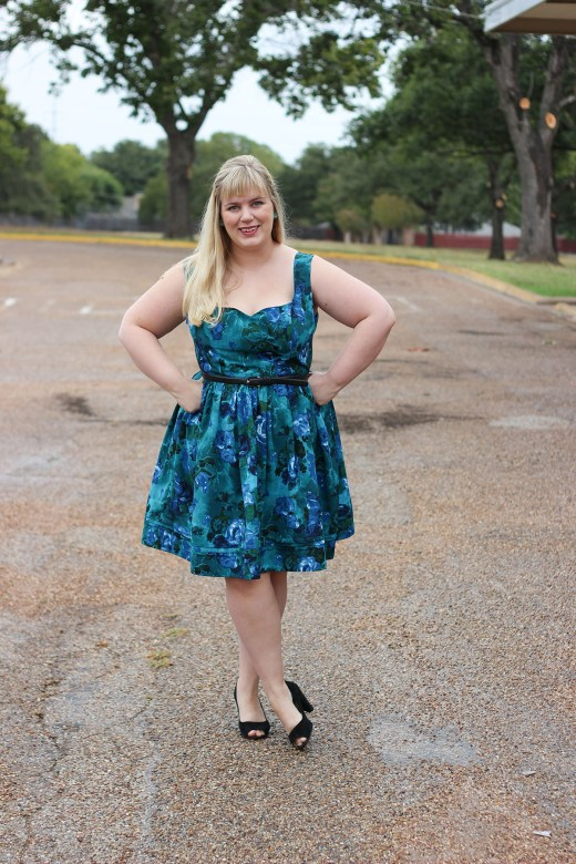 Idle Fancy - By Hand London Kim Dress - Blue Floral-1157