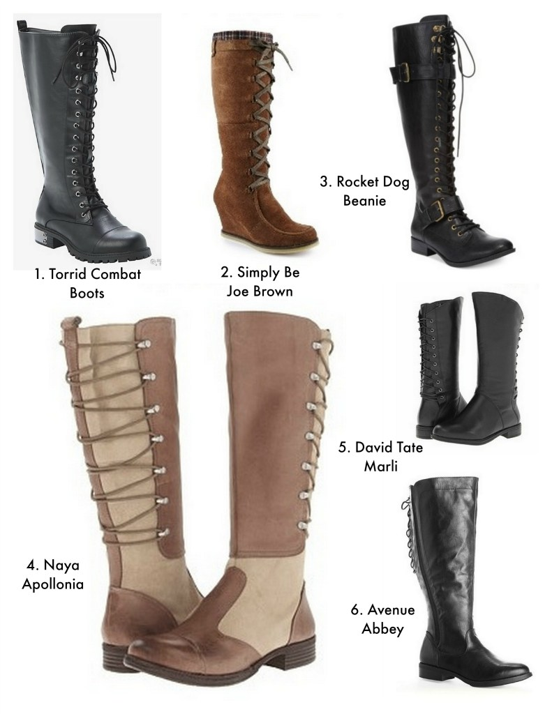 lace up boots collage