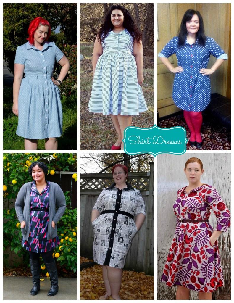 shirtdress collage