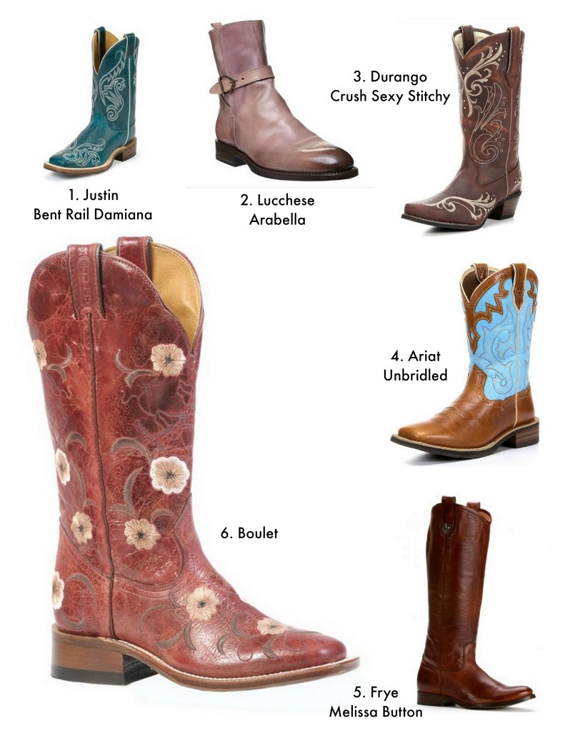 western boots collage