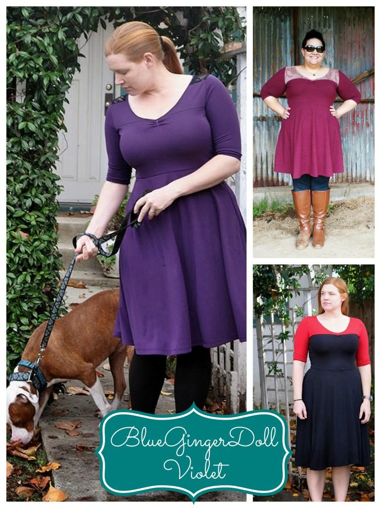 bluegingerdoll violet collage