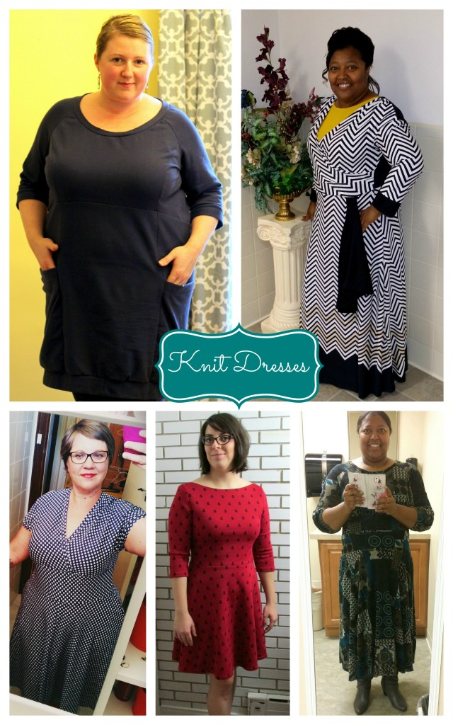 knit dresses collage