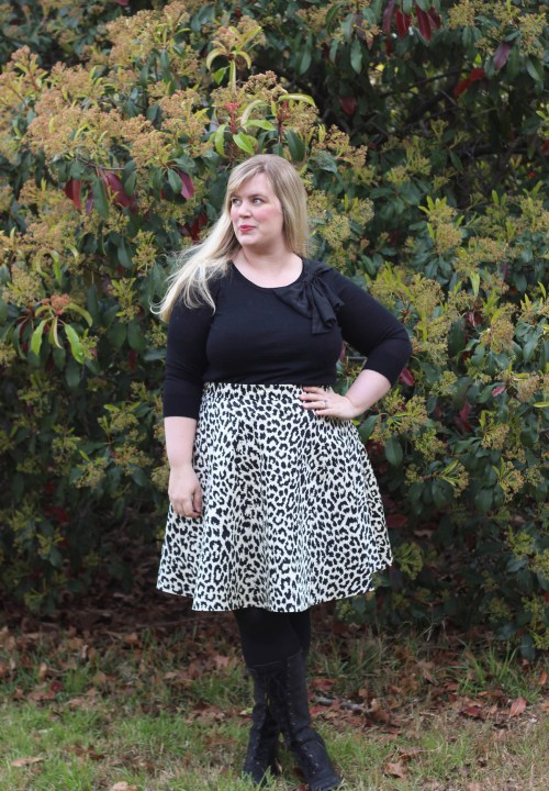 ebc5606fd7 Idle-Fancy-Half-Circle-Skirt-Snow-Leopard-Print-