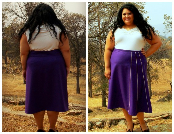purple stardust skirt