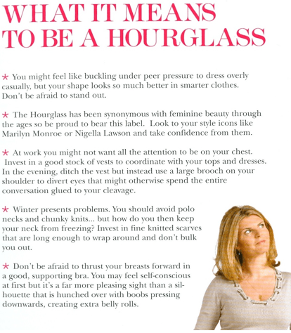 What it means to be an hourglass?