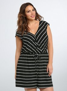 torrid striped romper