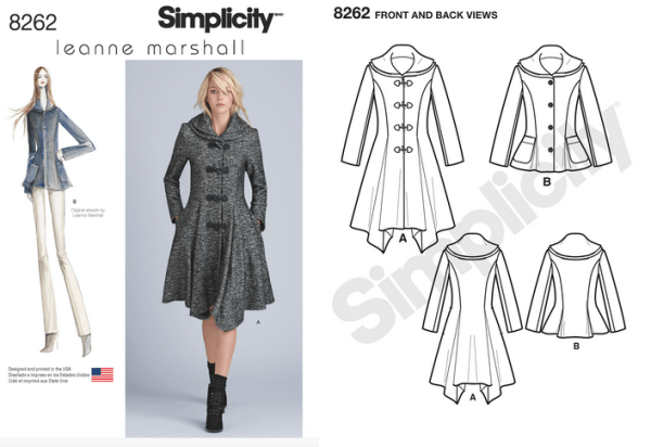 Simplicity 8262 - Leanne Marshall Coat or Jacket