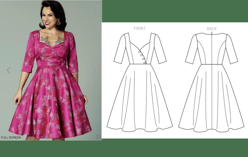 B6412 - Sweetheart dress by Gertie
