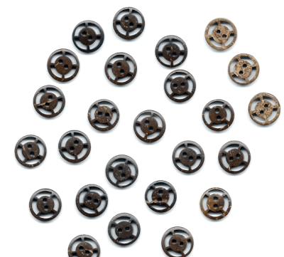 Carved Coconut Buttons from Fashion Sewing Supply