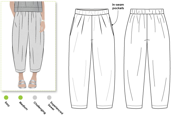 My New Adventure Sewing Lagenlook Trousers