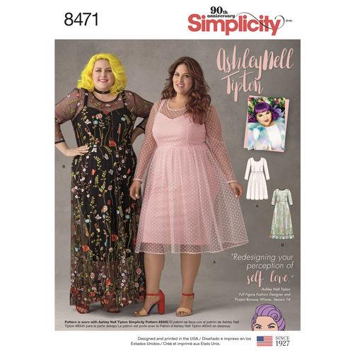 Simplicityplussizedressespattern40envelopefront Fascinating Plus Size Dress Patterns