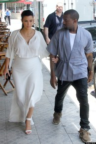 Kim Kardashian and Kanye West step out for lunch in Rio de Janeiro