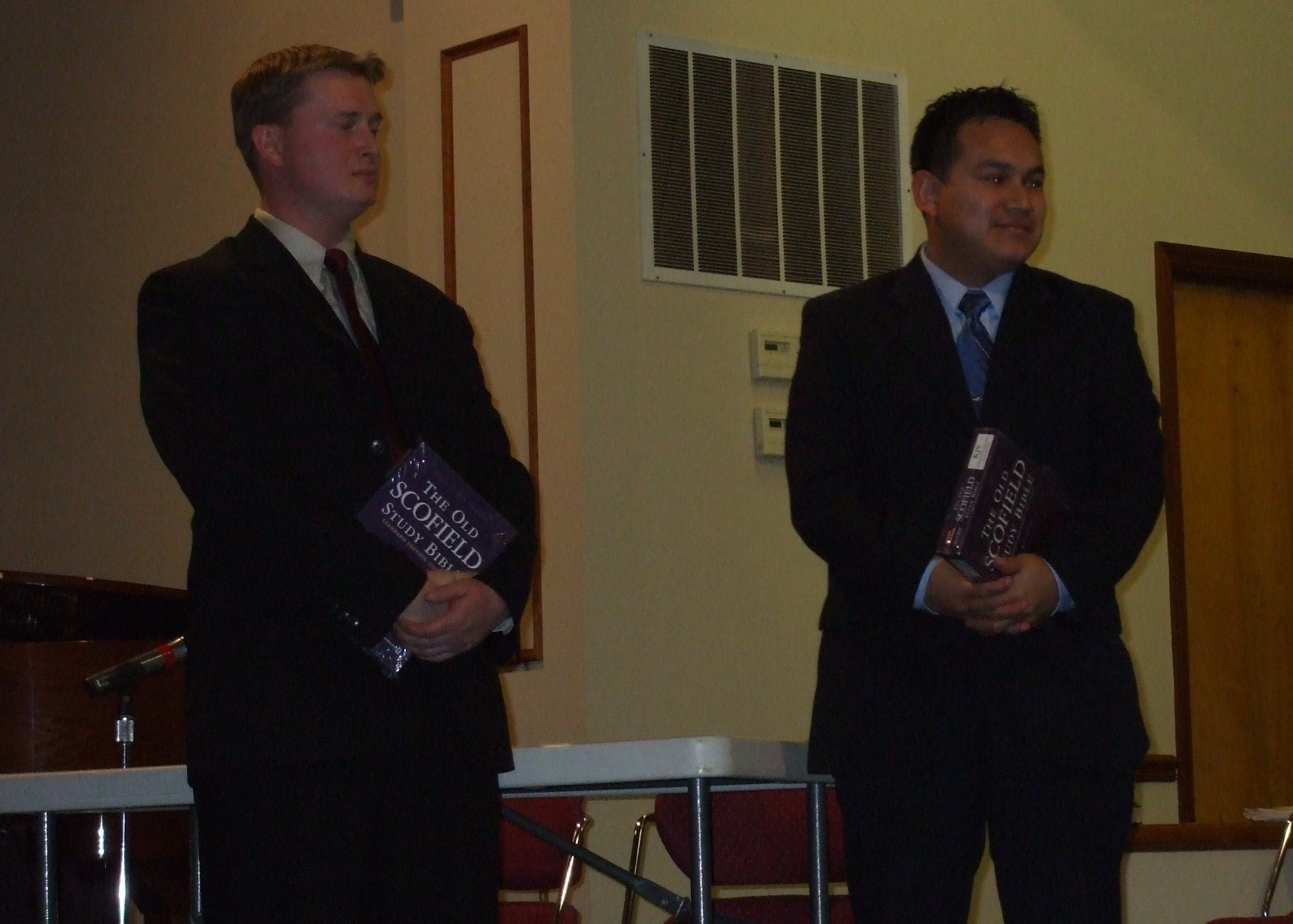 John and Ale with their new Bibles