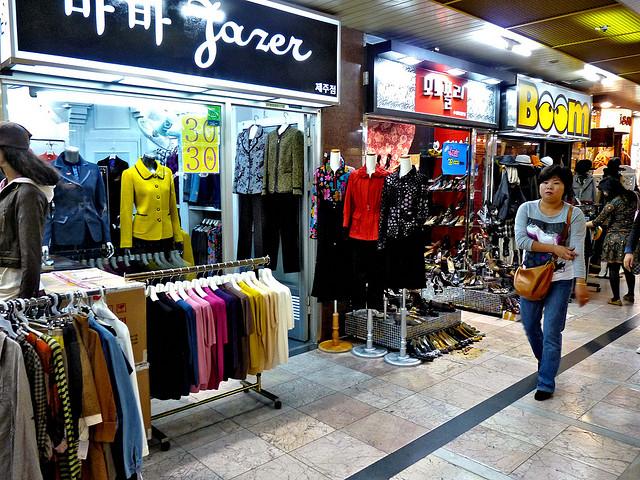 Shopping in Jeju do, Korea