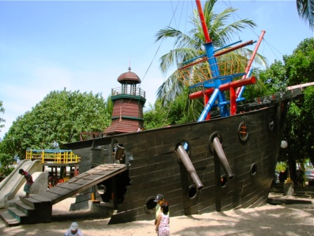 Pirate Ship Park at Ancol Dream Park in Jakarta