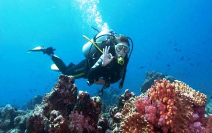 go diving in guam