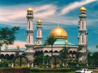 mosque, brunei