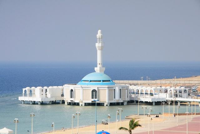 floating, mosque, jeddah, saudi arabia