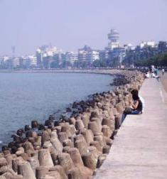 beach, marine drive, mumbai, india