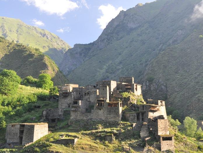 village, medival, fortress, georgia, shatili