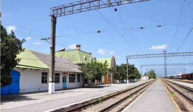 khachmaz, district, old rail road