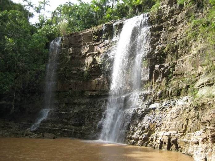 water falls, guam, pacific
