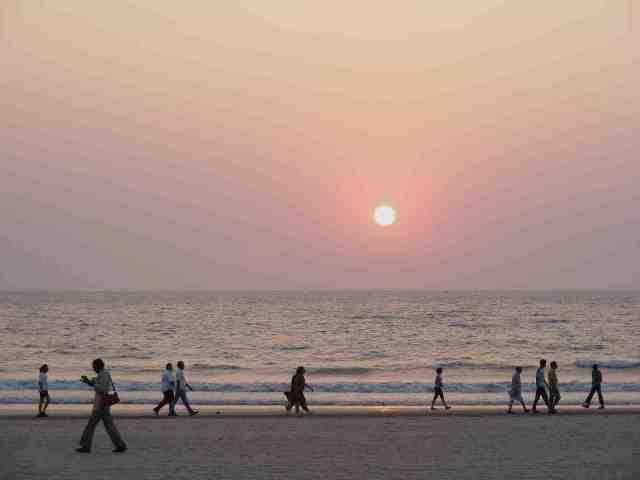 juhu beach, white beach, india, mumbai