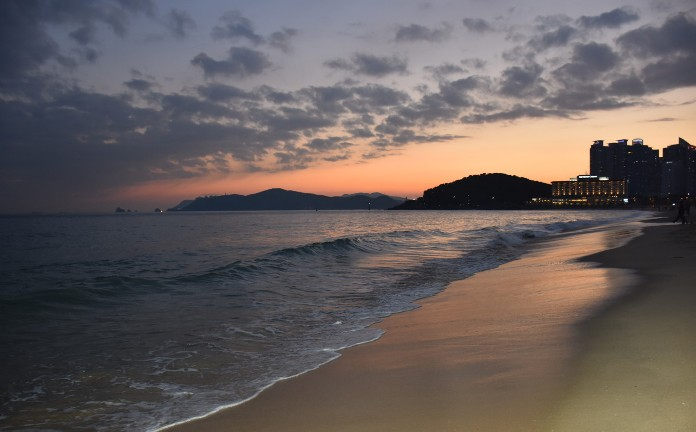 haeundae beach, korea, busan