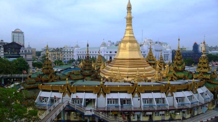 sule, pagoda, yangon