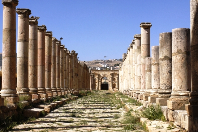 jerash, amman, jordan, ruins in jerash