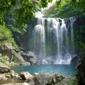 cheonjeyeon waterfalls, korea, jeju-do