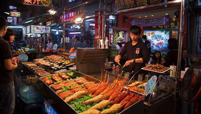 night market kaohsiung, taiwan