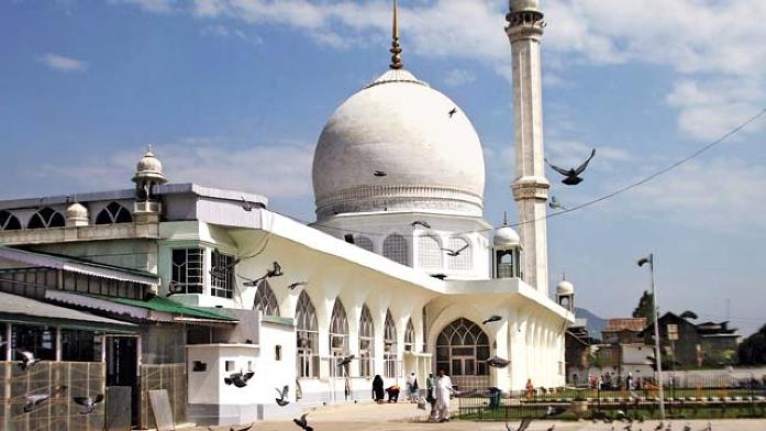 hazratbal shrine, india, srinagar