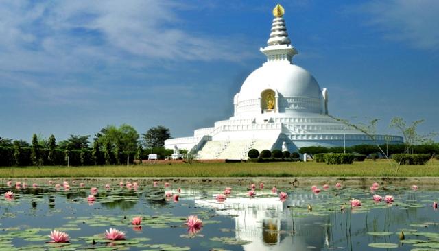 nepal lumbini, lumbini, world peace pagoda