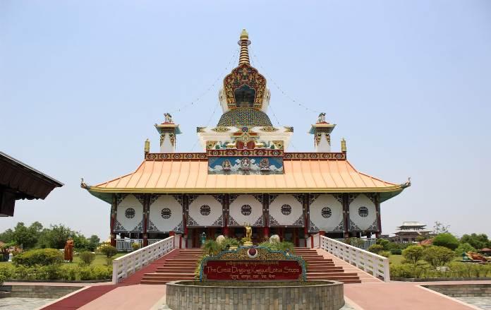 lumbini stupa, nepal stupa, lotus stupa
