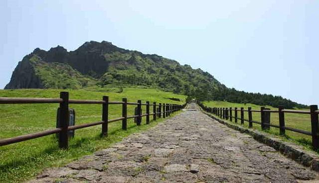 seongsan ilchubong peak, south korea, jeju-do