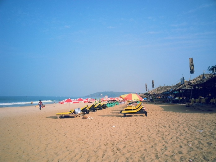 calangute beach, goa, india