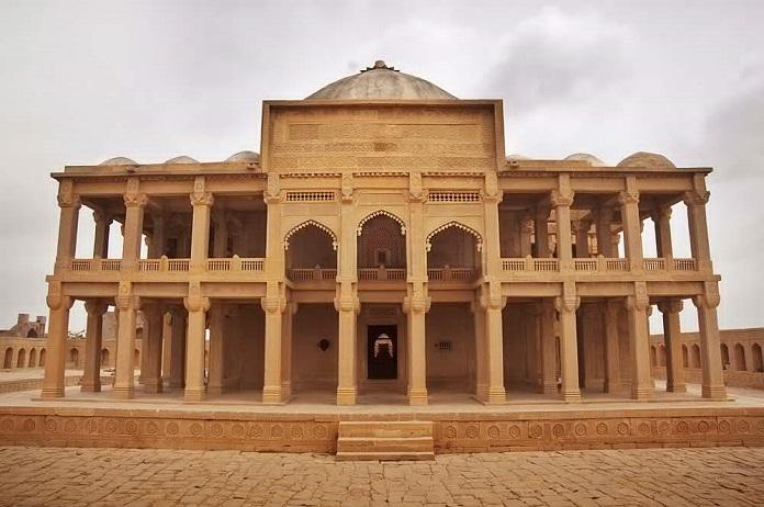 thatta, pakistan,tomb of isa khan tarkhan II