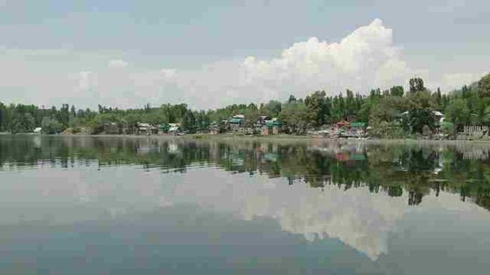 manasbal lake, india, srinagar