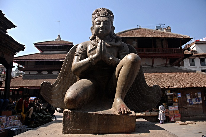 statue of garuda,kathmandu, nepal