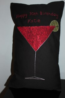cosmopolitan - machine and hand embroidery on cotton