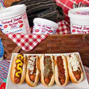 Custard Stand Hot Dog Chili, hot dogs, baseball, picnic, Tracy A. Toler Photography