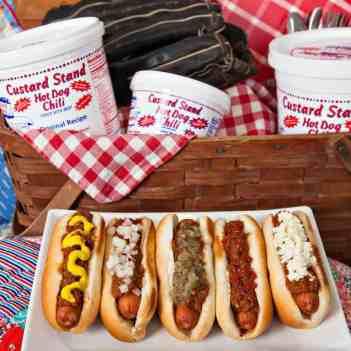 Custard Stand Hot Dog Chili, hot dogs, baseball, picnic, Tracy A. Toler Photography