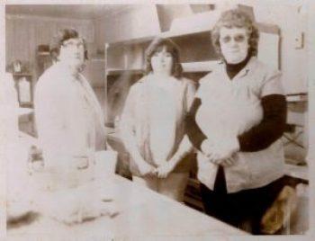 From left, Elsie Hamrick, Debbie Bright Clutter and Loucille Hamrick.