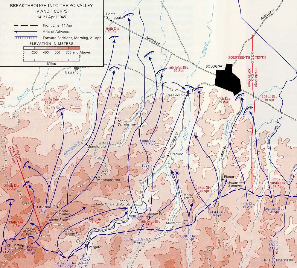 Maps Main Menu Map 7   Breakthrough into Po Valley  14 21 April 1945