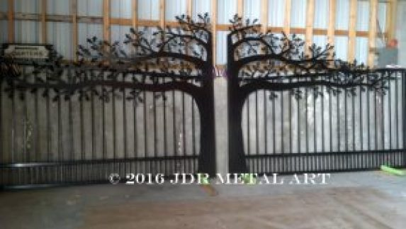 Driveway Gates Kansas Oak Tree Theme By Jdr Metal Art