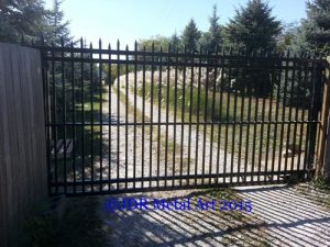 Columbus Ohio sliding metal security gate.
