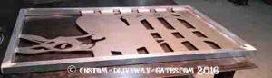 Equine aluminum driveway gate design.