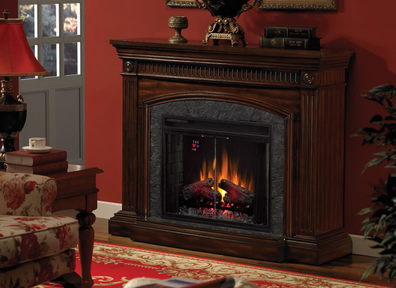 Fake Electric Fireplace On Custom Fireplace Quality